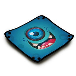 [01414] Dice Tray - Happy Cyclope Blue Monster