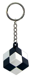 [00543] PORTE-CLES CUBE SIMPLE - SIMPLE - N&B